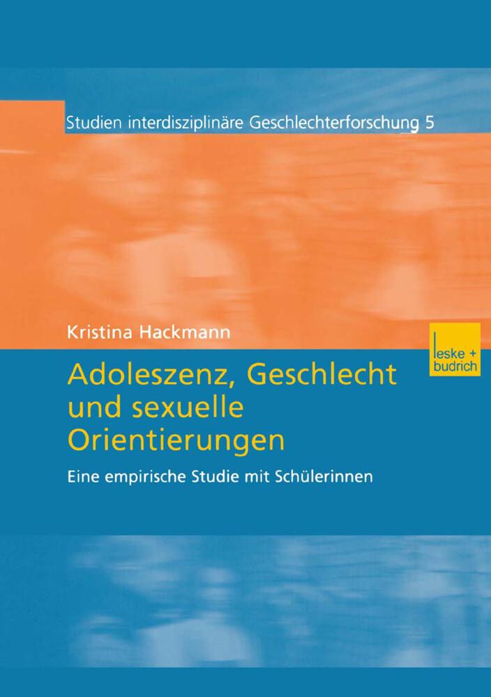 Adoleszenz, Geschlecht und sexuelle Orientierungen als Buch
