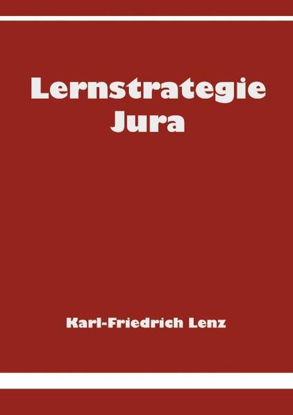 Lernstrategie Jura als Buch
