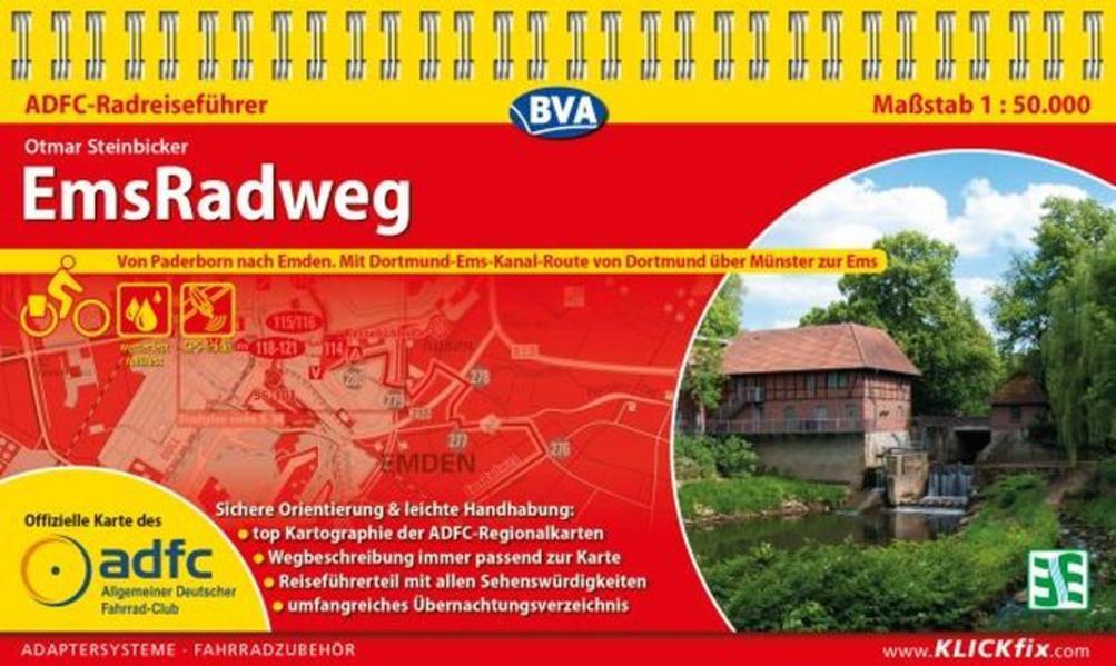 ADFC-Radreiseführer EmsRadweg als Blätter und Karten