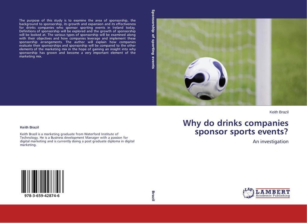 Why do drinks companies sponsor sports events? ...