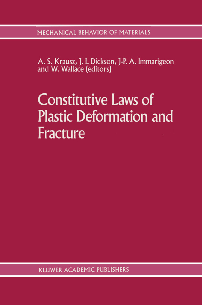 Constitutive Laws of Plastic Deformation and Fracture als Buch
