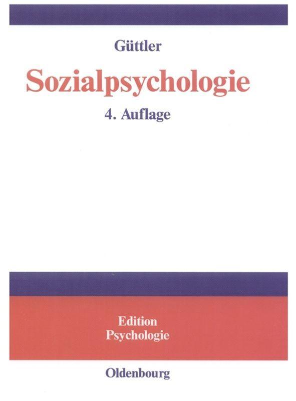 Sozialpsychologie als Buch