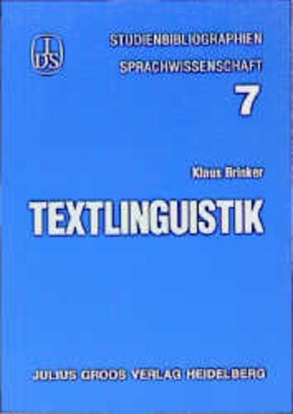 Textlinguistik als Buch