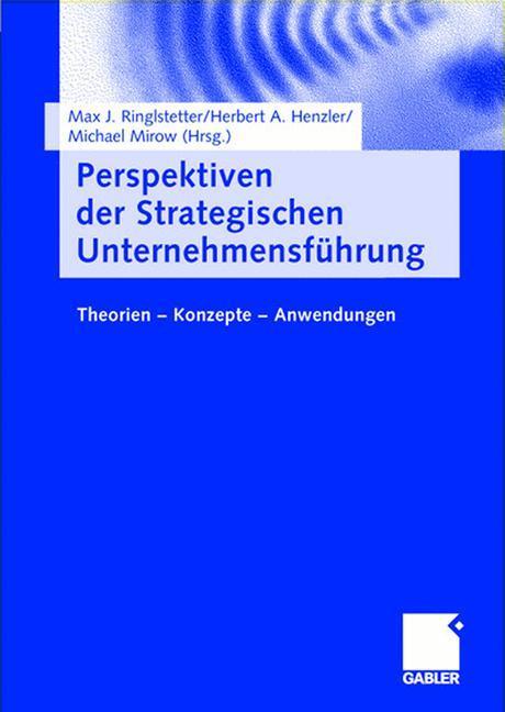 Perspektiven der Strategischen Unternehmensführung als Buch