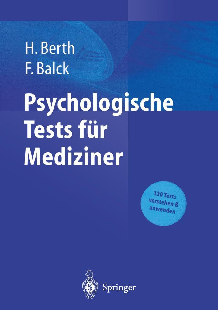 Psychologische Tests für Mediziner als Buch