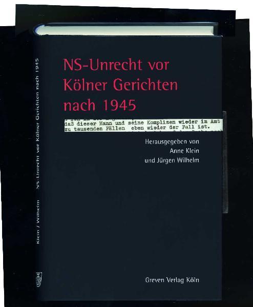 NS-Unrecht vor Kölner Gerichten nach 1945 als Buch