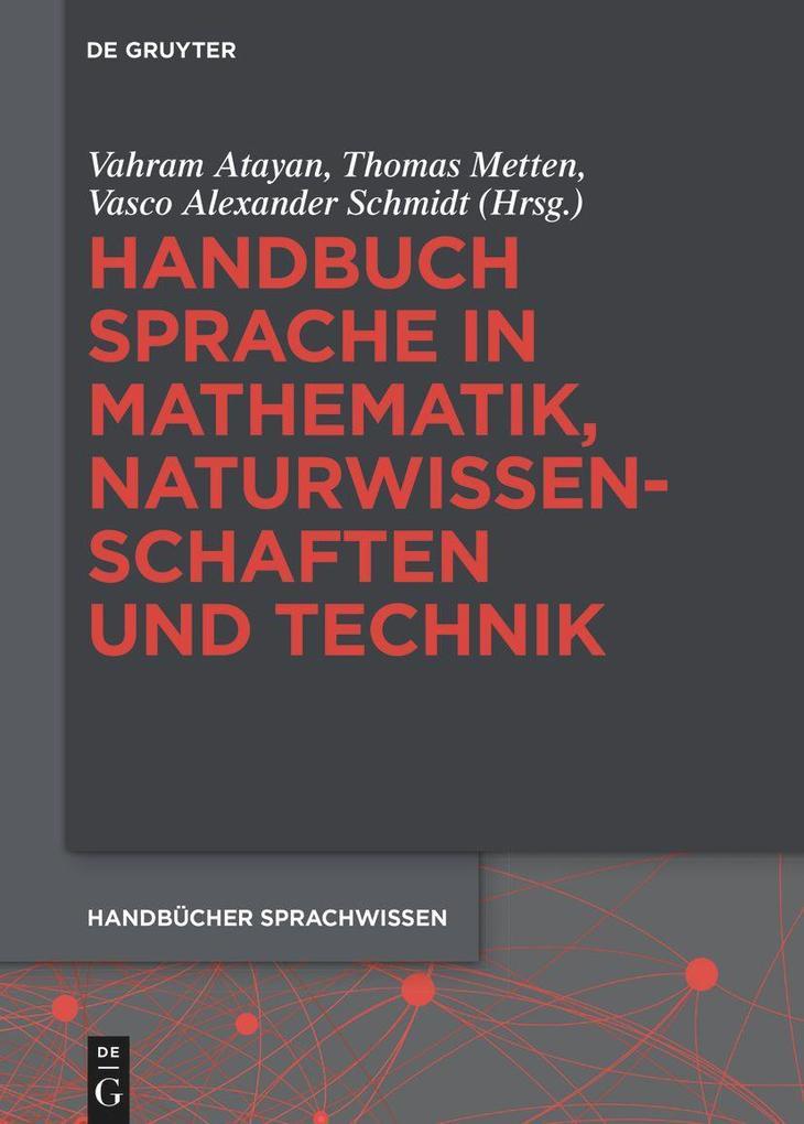 Handbuch Sprache in Mathematik, Naturwissenschaften und Technik als Buch (gebunden)