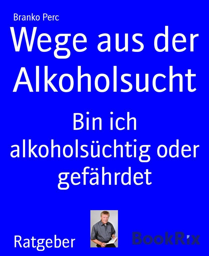 Wege aus der Alkoholsucht als eBook von Branko ...