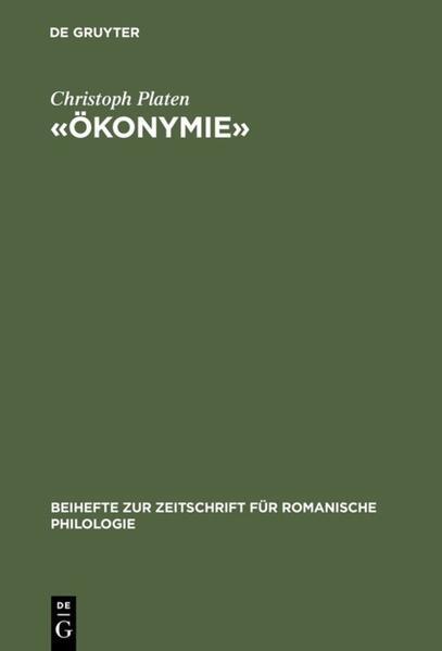 «Ökonymie» als Buch