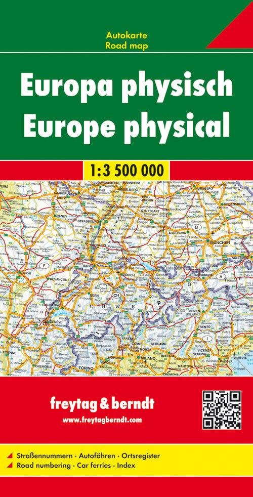Europa 1 : 3 500 000. Autokarte physisch als Buch