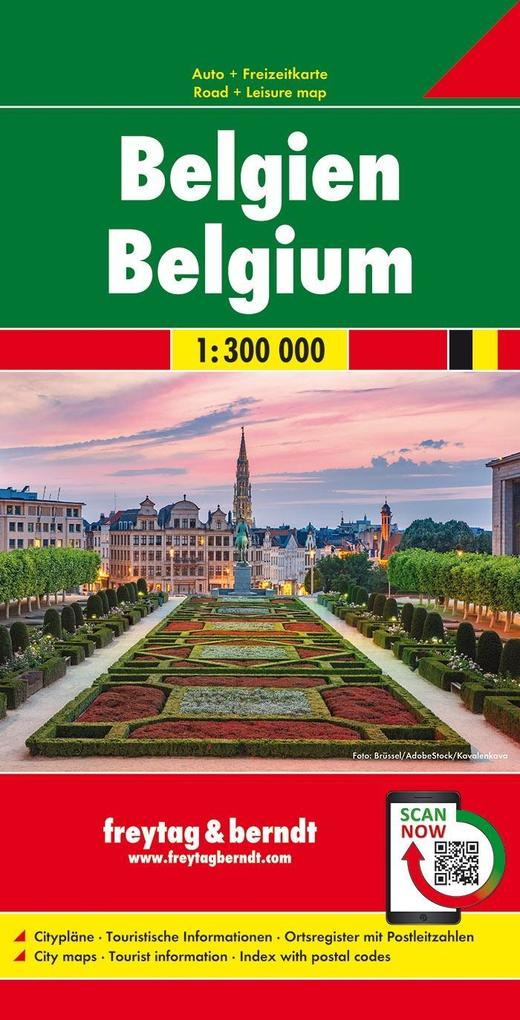 Belgien 1 : 300 000. Autokarte als Buch