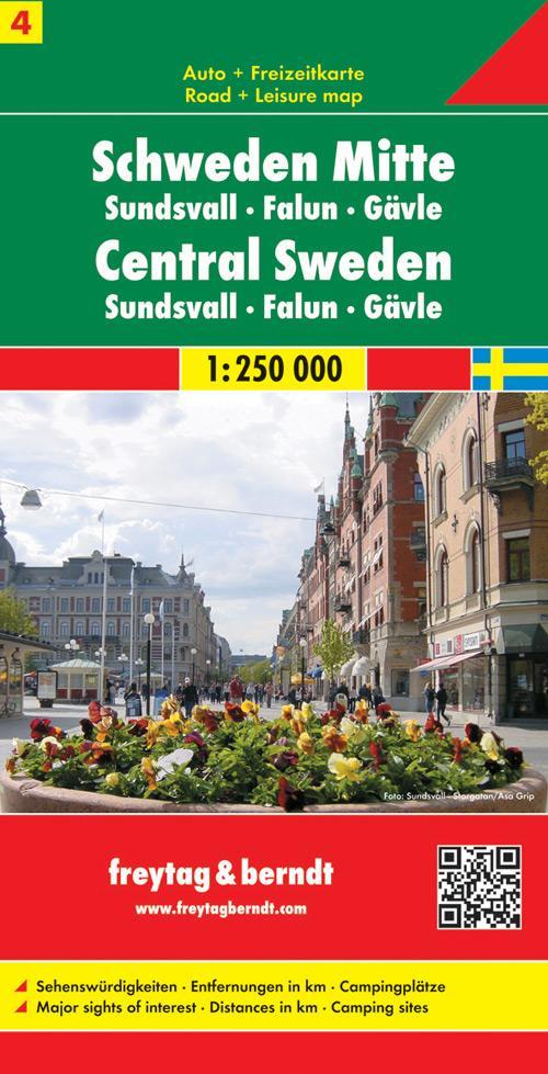 FuB Schweden 04 Mitte, Sundsvall, Falun, Gävle 1 : 250 000. Autokarte als Buch