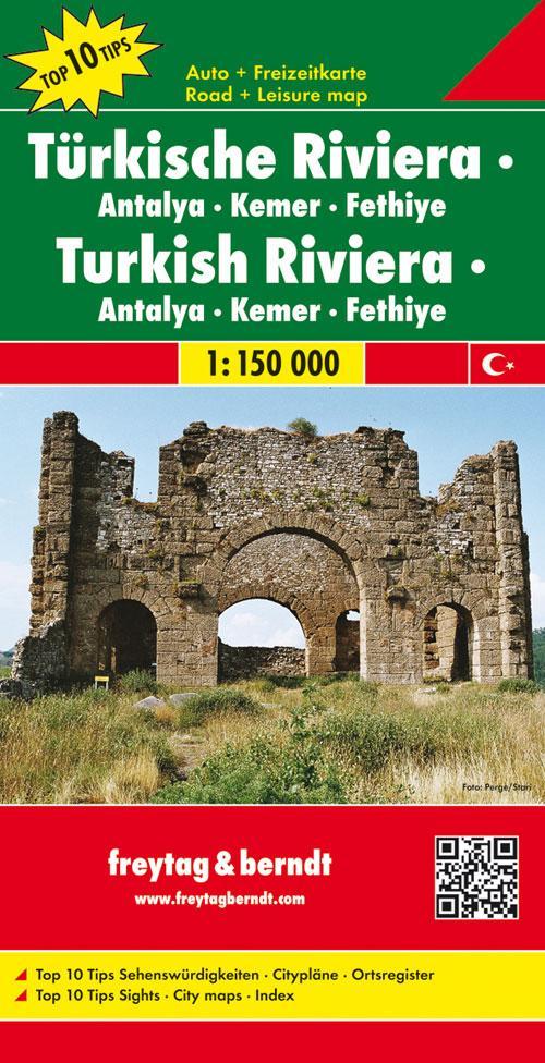 Türkische Riviera 1 : 150 000. Auto- und Freizeitkarte als Buch