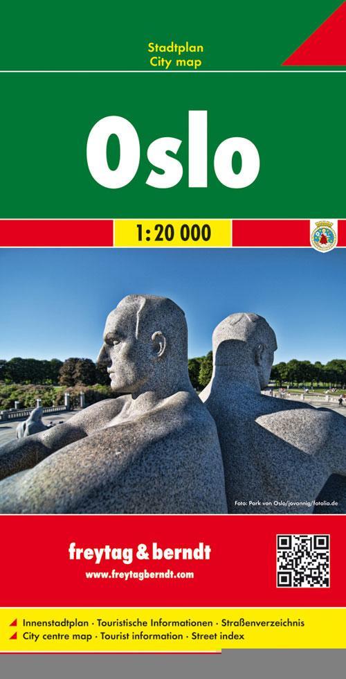 Oslo 1 : 20 000. Stadtplan als Buch