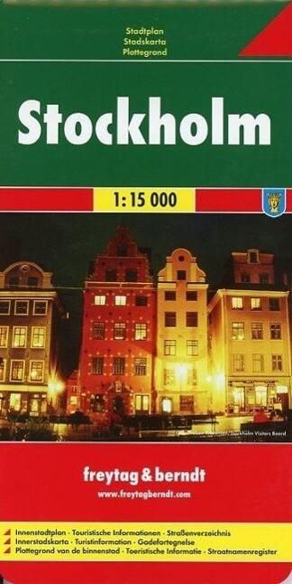 Stockholm 1 : 15 000. Stadtplan als Buch