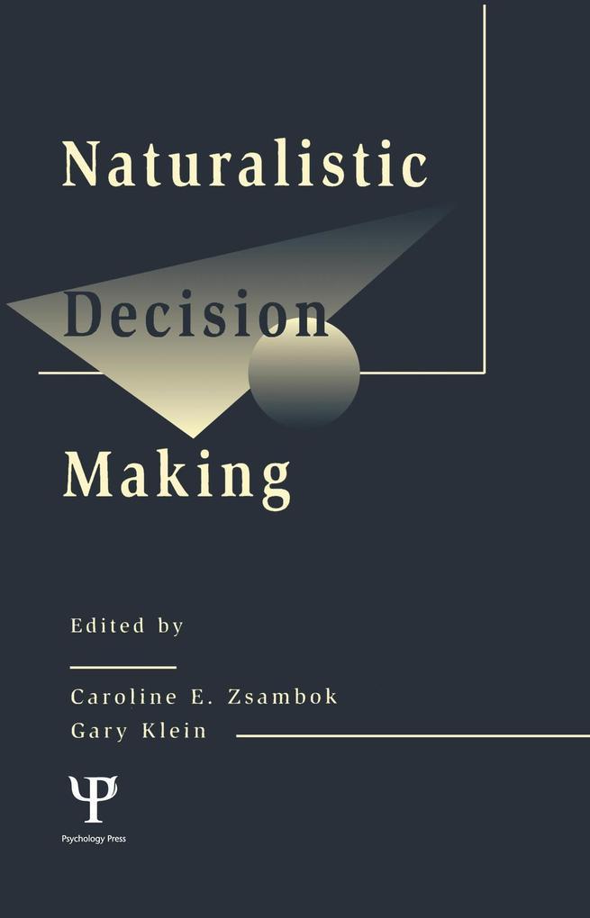 Naturalistic Decision Making als eBook von