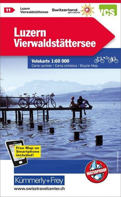 Schweiz Radkarte 11 Luzern - Vierwaldstätter See 1 : 60 000 als Buch