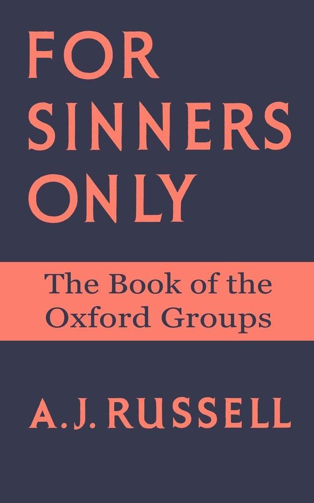 For Sinners Only als Taschenbuch