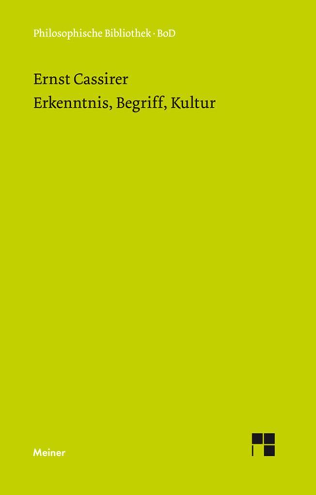 Erkenntnis, Begriff, Kultur als eBook pdf