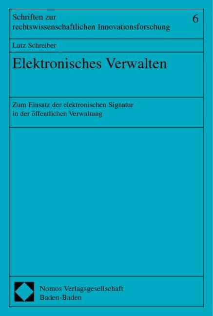 Elektronisches Verwalten als Buch