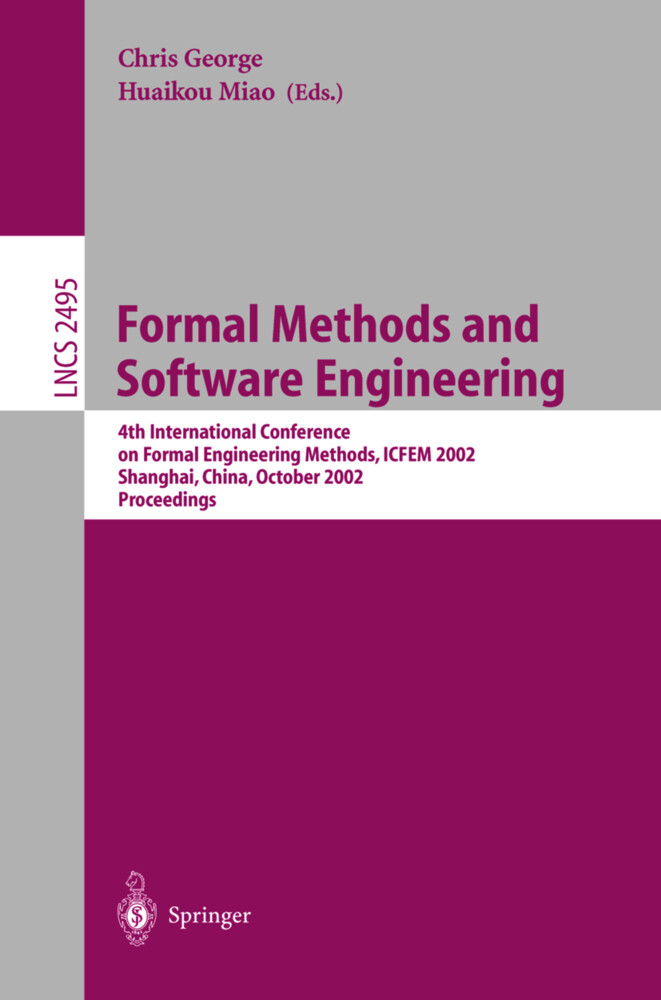 Formal Methods and Software Engineering als Buch