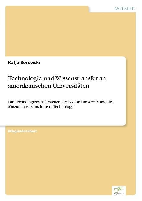 Technologie und Wissenstransfer an amerikanisch...