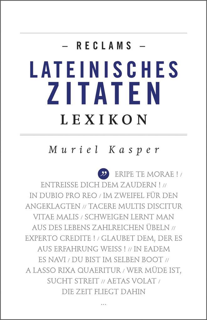 Reclams Lateinisches Zitaten-Lexikon als eBook
