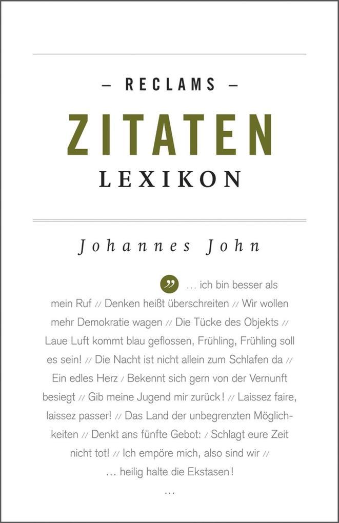 Reclams Zitaten-Lexikon als eBook