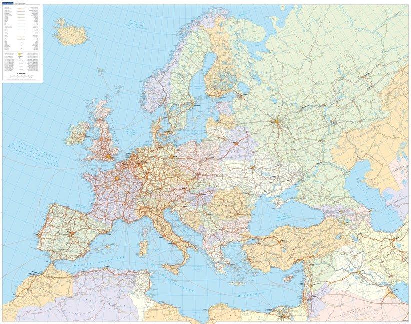KuF Europa politisch 1 : 4 500 000. Poster als Buch