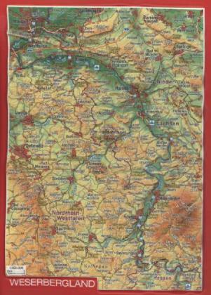 Reliefpostkarte Weserbergland als Buch von Andr...