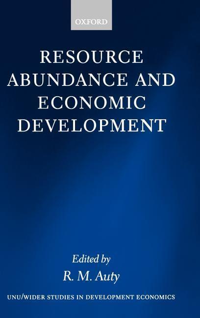 Resource Abundance and Economic Development als Buch