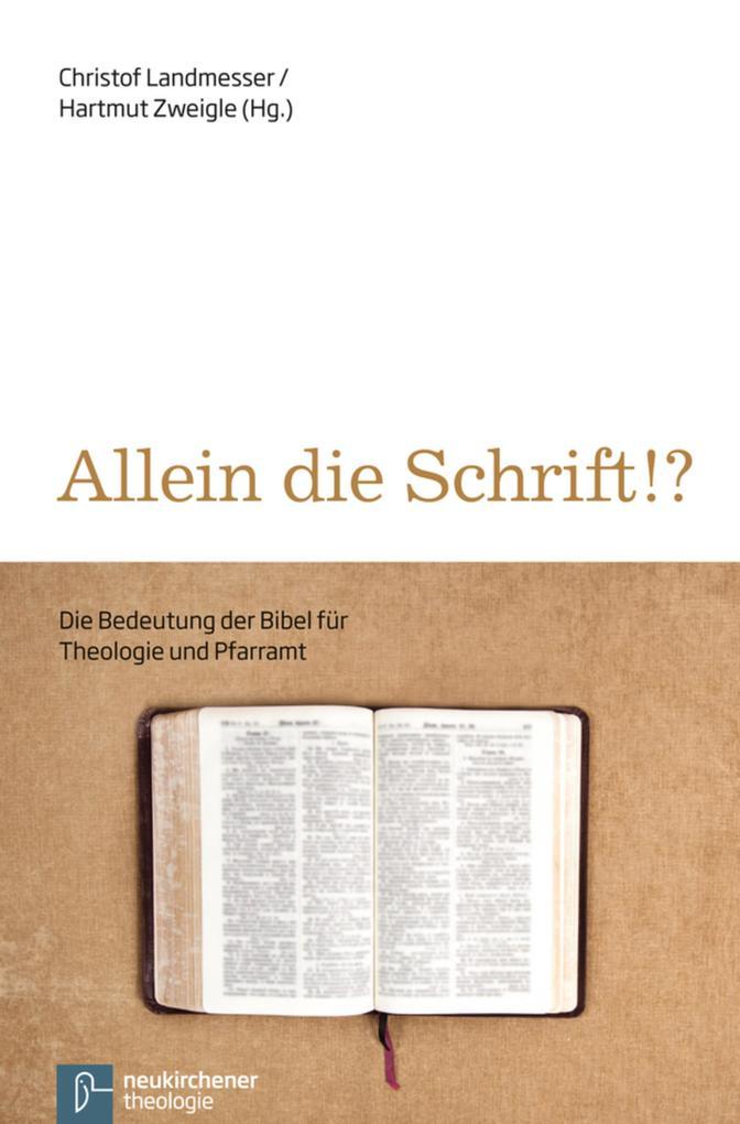 Allein die Schrift!? als eBook