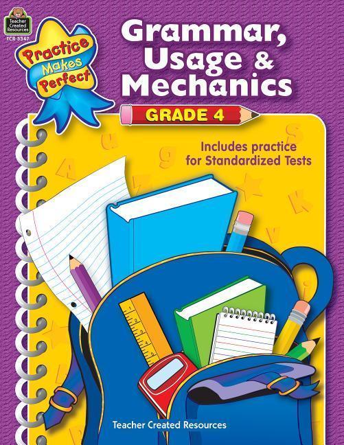 Grammar, Usage & Mechanics Grade 4 als Taschenbuch