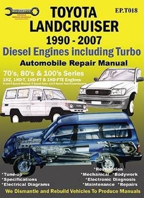Toyota Landcruiser 1990-2007 Automobile Repair Manual: Diesel Engines Including Turbo als Taschenbuch