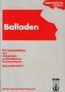 Arbeitsblätter Balladen als Buch