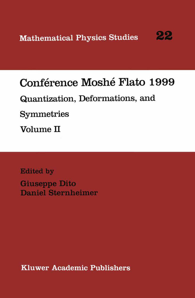 Conférence Moshé Flato 1999 als Buch