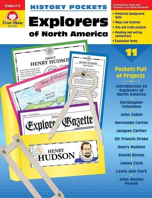 History Pockets, Explorers of North America als Taschenbuch