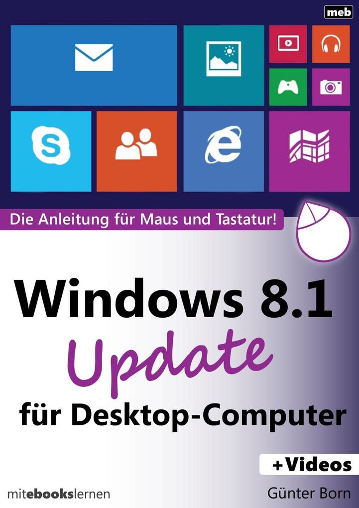 Windows 8.1 U'date für Desktop-Computer als eBook