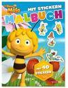 Die Biene Maja- Malbuch mit 40 Stickern