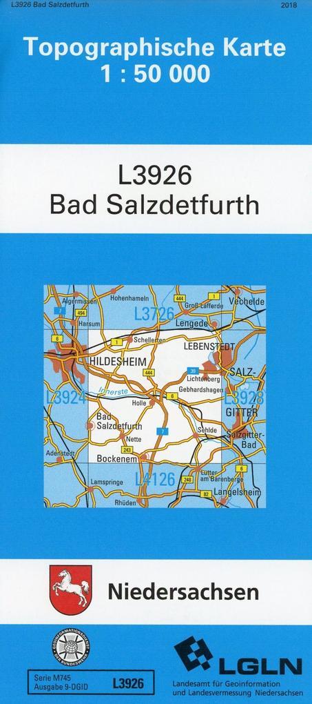 Bad Salzdetfurth 1 : 50 000. (TK 3926/N) als Buch