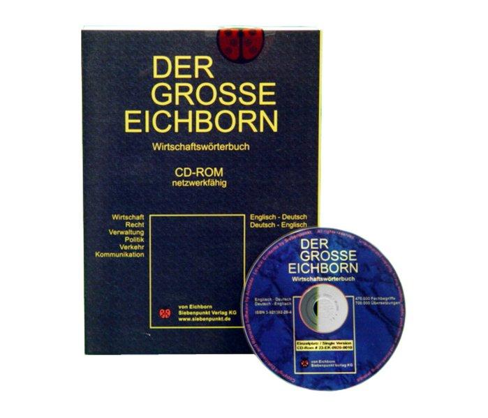 Der Grosse Eichborn. Wirtschaftswörterbuch Deutsch - Englisch / Englisch - Deutsch. Einzelversion. CD-ROM für Windows 98/NT 4,0/2000/XP als Software