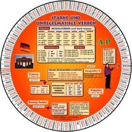 Language Wheels. Deutsche starke und unregelmäßige Verben als Spielwaren