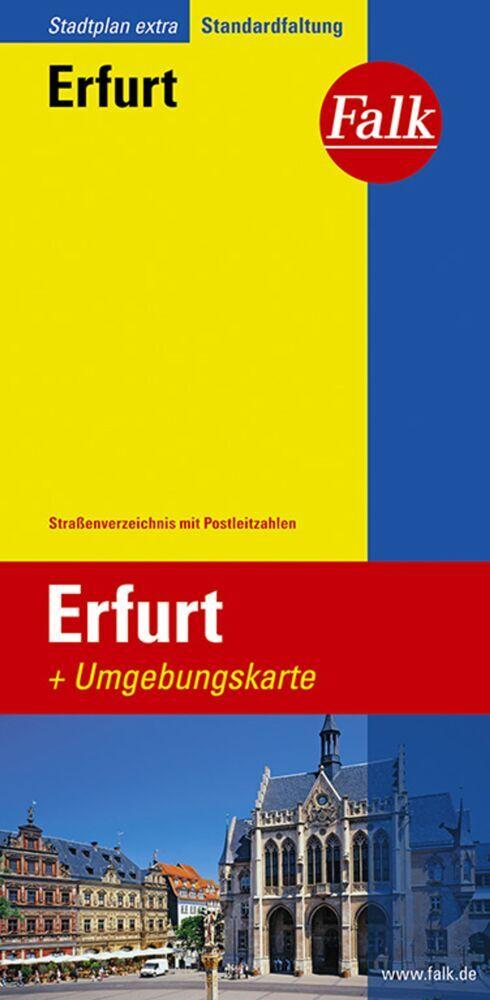 Falk Stadtplan Extra Standardfaltung Erfurt als...