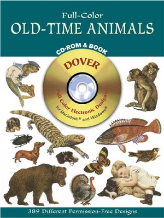 Full-Color Old-Time Animals CD-ROM and Book als Taschenbuch