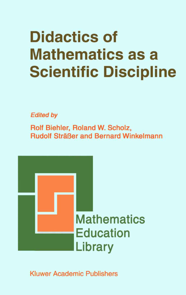 Didactics of Mathematics as a Scientific Discipline als Buch