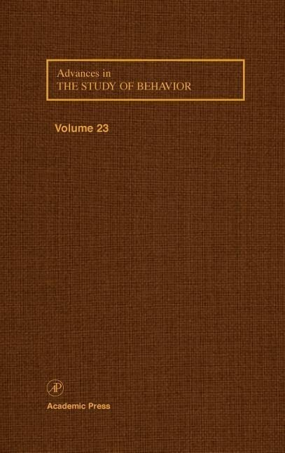 Advances in the Study of Behavior als Buch