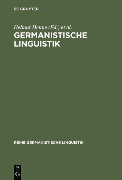 Germanistische Linguistik: Konturen eines Faches als Buch