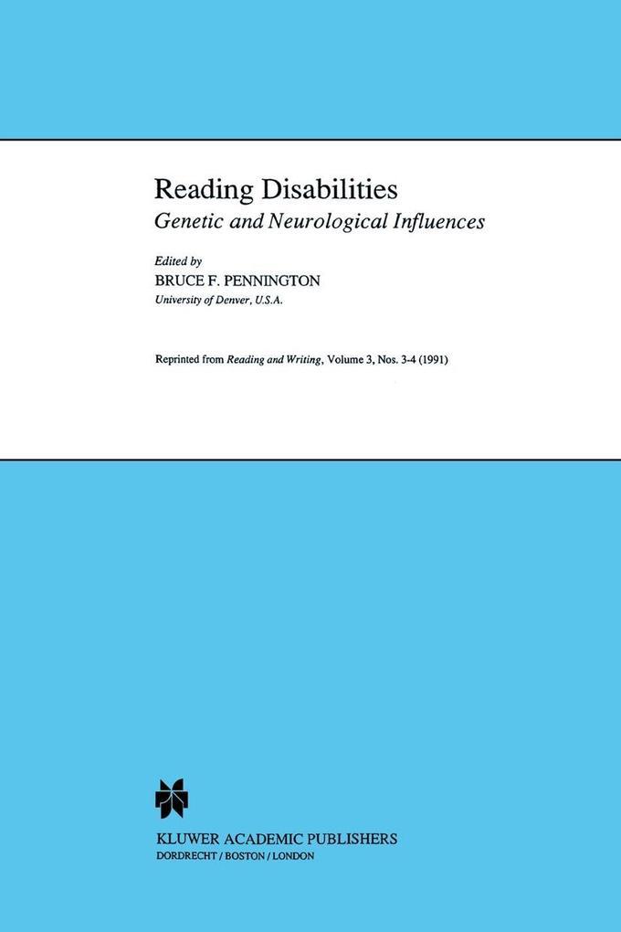 Reading Disabilities als Buch