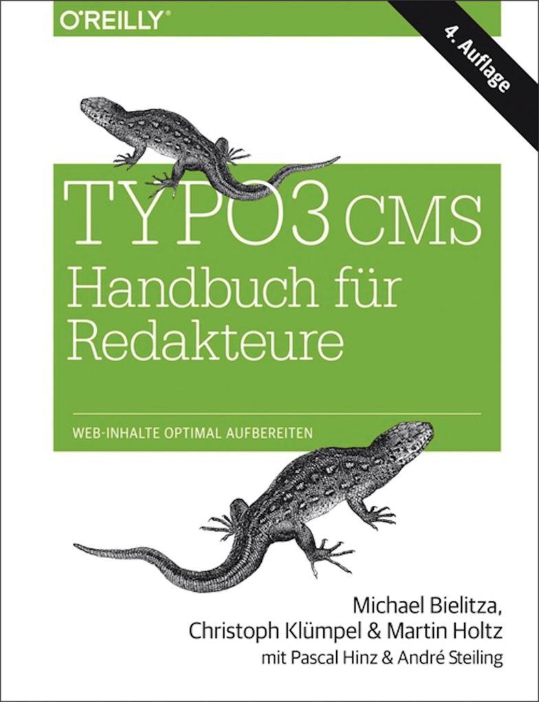 TYPO3 CMS Handbuch für Redakteure als eBook
