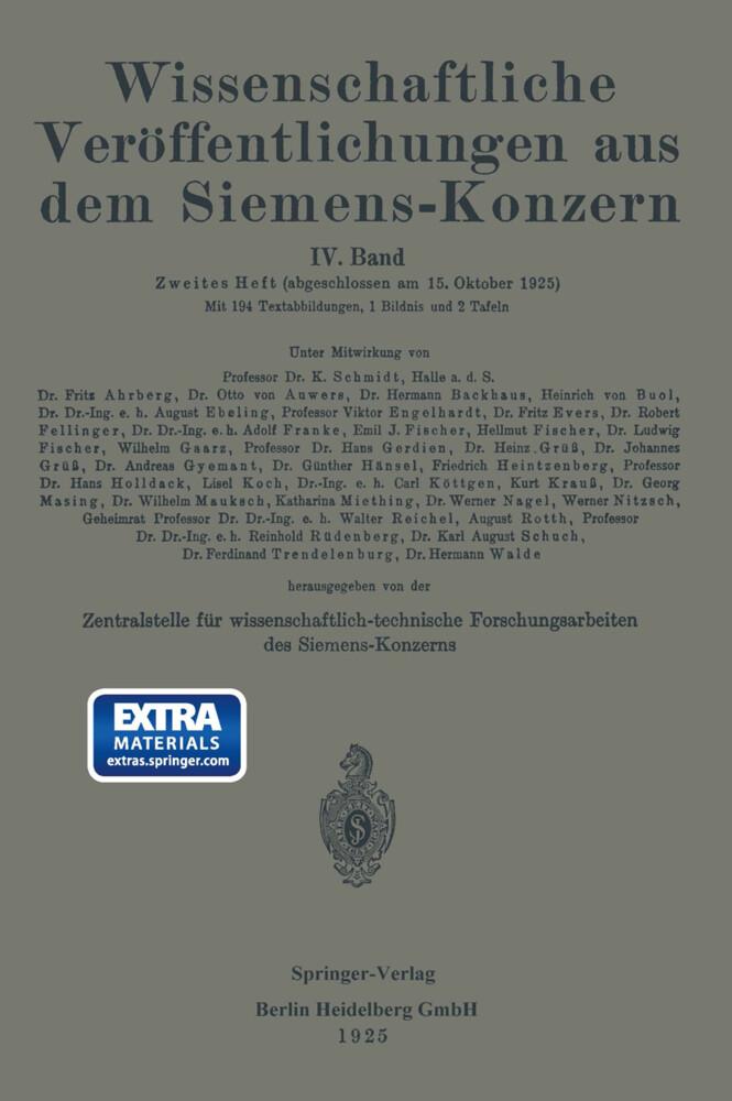 Wissenschaftliche Veröffentlichungen aus dem Siemens-Konzern als Buch
